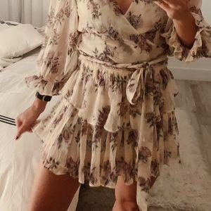 LoveShackFancy Ruffle Floral Mini Skirt Dream XS